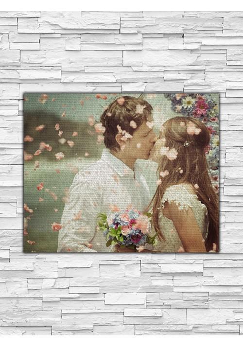 Toile Lin PERSONNALISABLE 27x22 cm Paysage