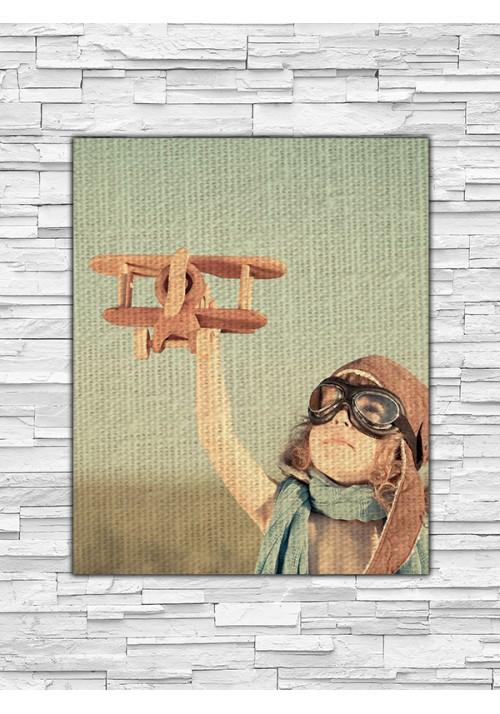 Toile Lin PERSONNALISABLE 27x22 cm Portrait