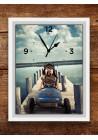 Horloge 18x24 cm chiffres noirs