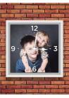 Horloge 20x20 cm chiffres blancs