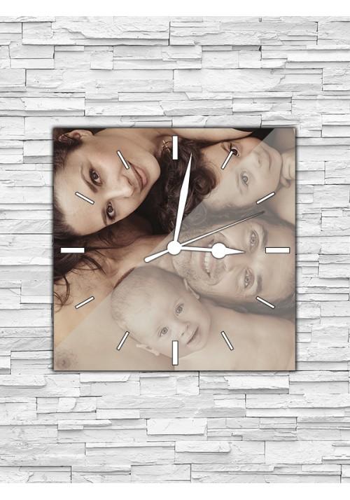 Horloge 20x20 cm sans chiffres blancs