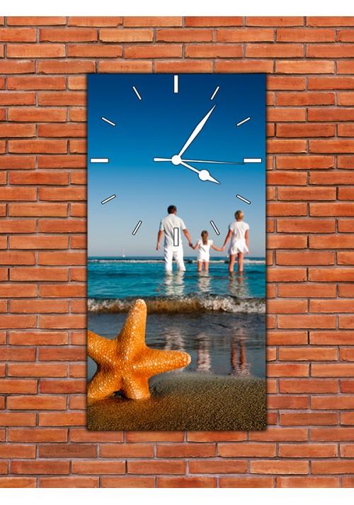 Horloge 20x40 cm sans chiffres blancs