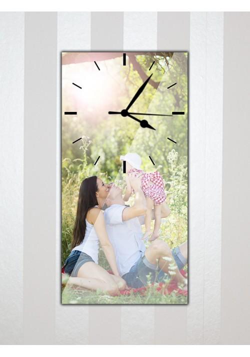 Horloge 20x40 cm sans chiffres noirs