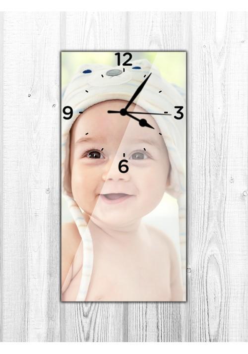 Horloge 20x40 cm chiffres noirs