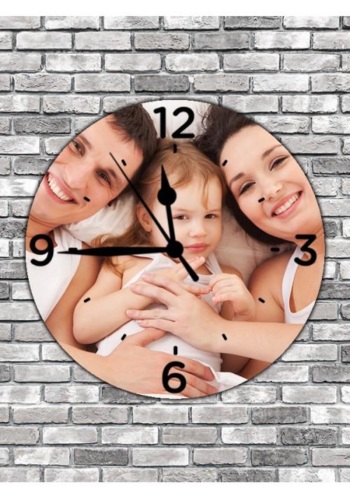 Horloge Ronde 30 cm cadran chiffres noirs