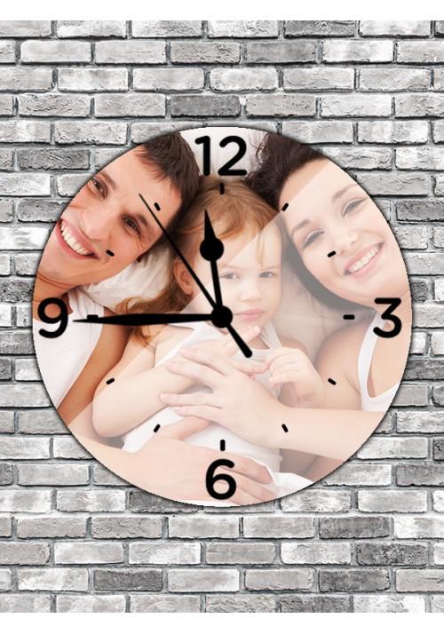 Horloge ronde 30 cm chiffres noirs